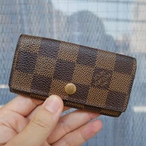 💯Auth Louis Vuitton Damier Ebene key case